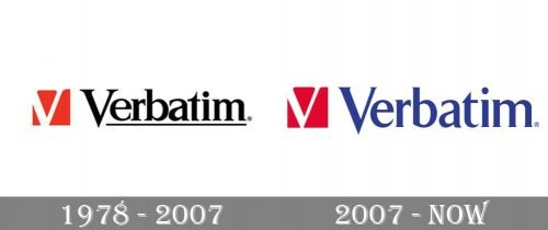 Verbatim Logo history