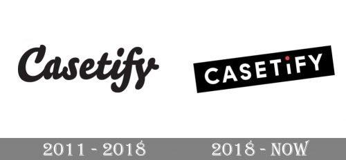 Casetify Logo history