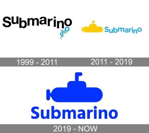 Submarino Logo history