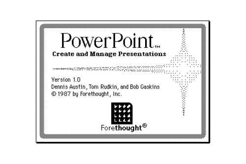 Microsoft PowerPoint Logo 1987-1988