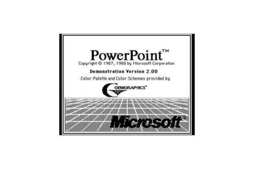 Microsoft PowerPoint Logo 1988-1990