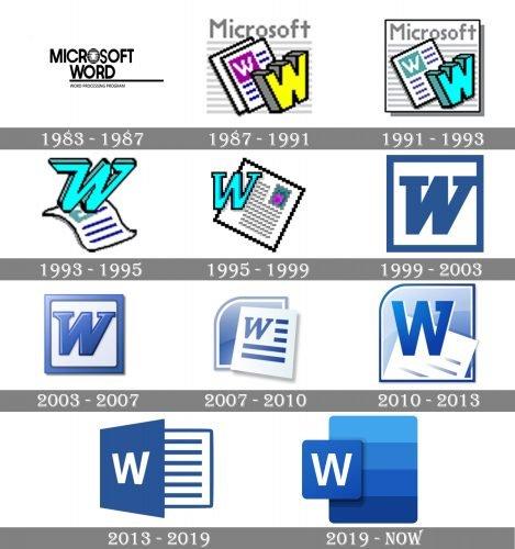 Microsoft Word Logo history