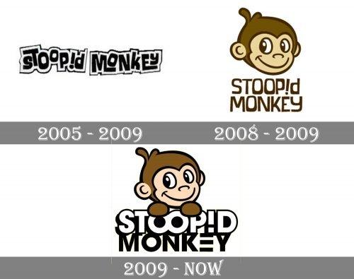 Stoopid Monkey Logo history