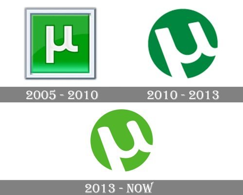uTorrent Logo history