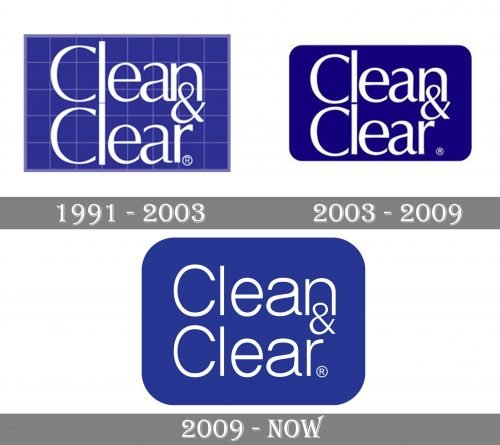 Clean & Clear Logo history