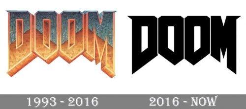 Doom Logo history