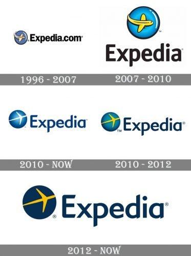 Expedia Logo history