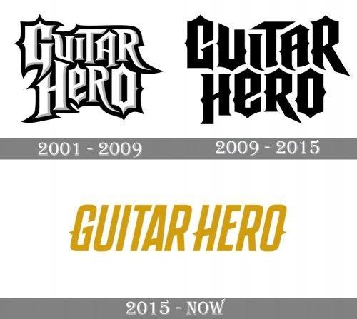 Guitar Hero Logo history