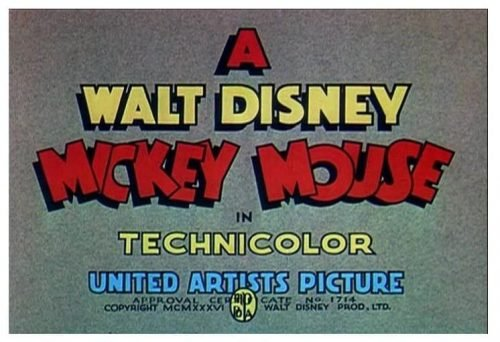Mickey Mouse Logo 1935