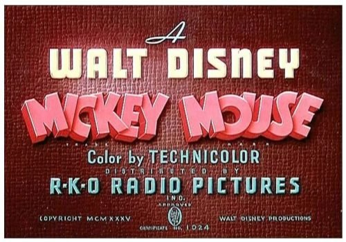 Mickey Mouse Logo 1937