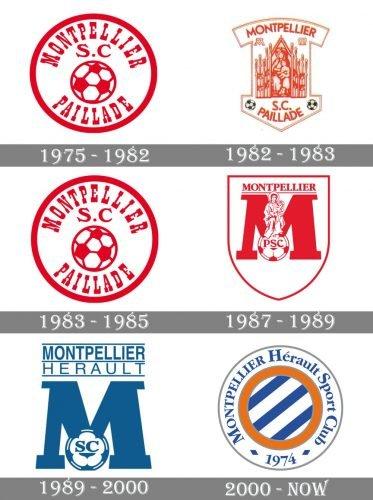 Montpellier Logo history