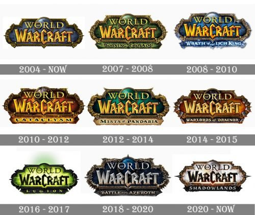 World of Warcraft Logo history
