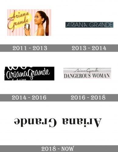 Ariana Grande Logo history