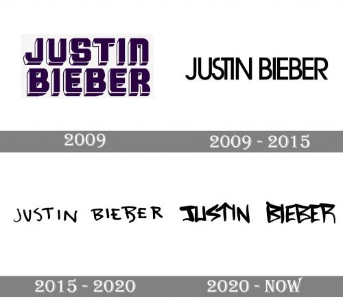 Justin Bieber Logo history