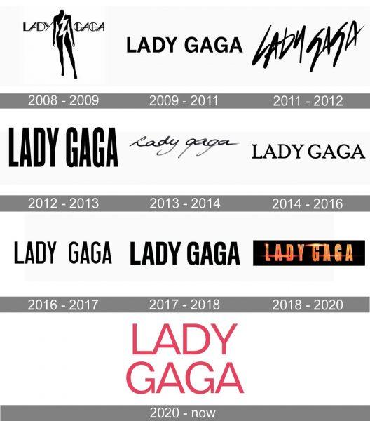 Lady Gaga Logo history