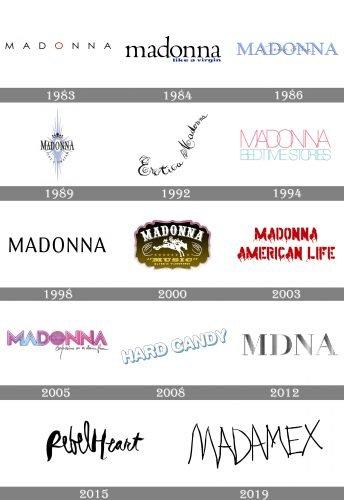 Madonna Logo history