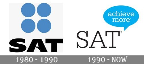 SAT Logo history