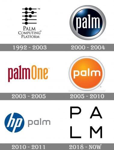 Palm Logo history