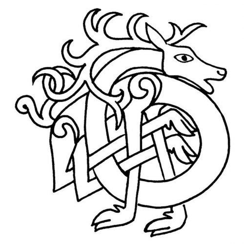 Celtic Deer symbol