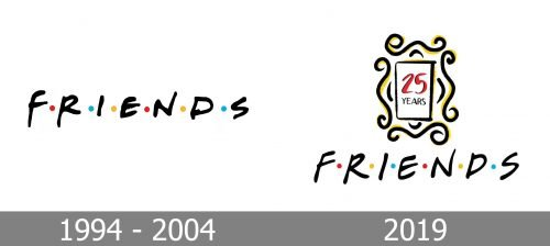 Friends Logo history