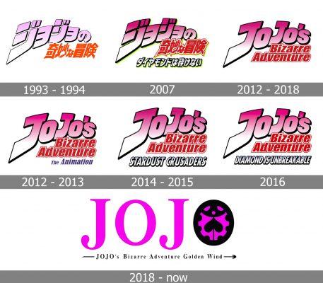 Jojo's Bizarre Adventure Logo history