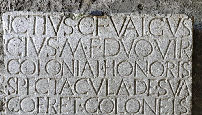 capital letters of ancient Rome