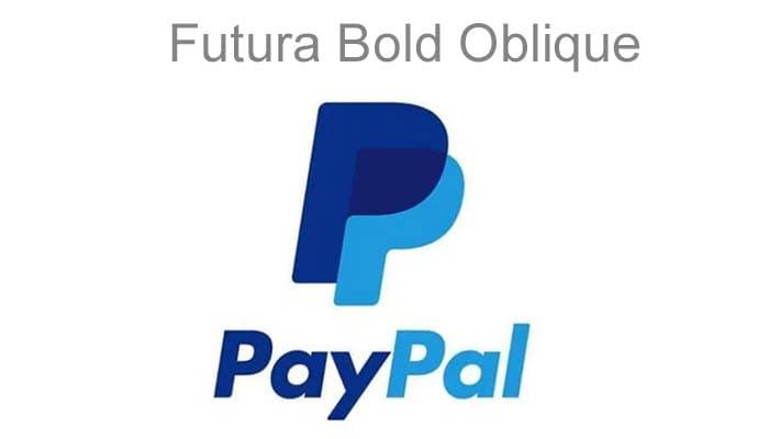 paypal Futura Bold Oblique