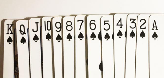 playing card rank