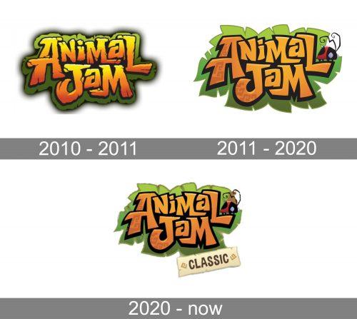 Animal Jam Logo history