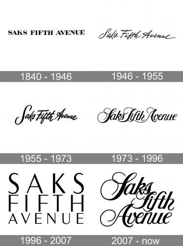 Saks Fifth Avenue Logo history