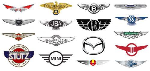 Wings on Car Logos