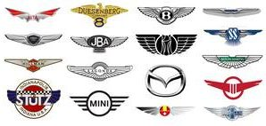 All car logo with Wings (58 brands)