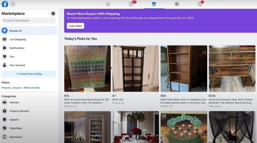 Facebook Marketplace get access to buy and sell 1
