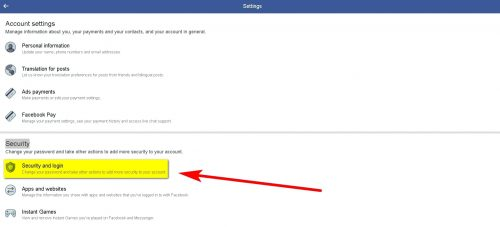 How to Deactivate Facebook Account Step 3