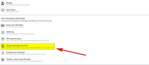 How to Deactivate Facebook Account Step 4