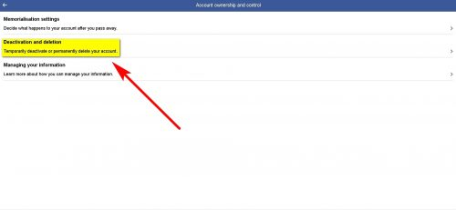 How to Deactivate Facebook Account Step 5