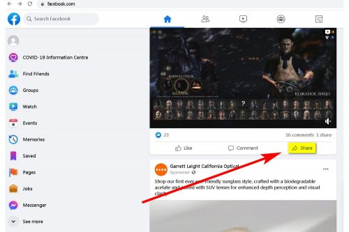 How to Download a Facebook video to your PC Step 1