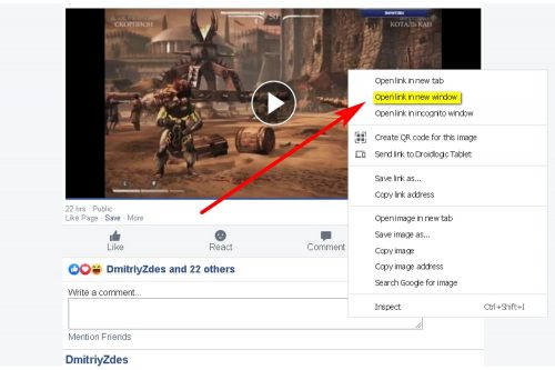 How to Download a Facebook video to your PC Step 7