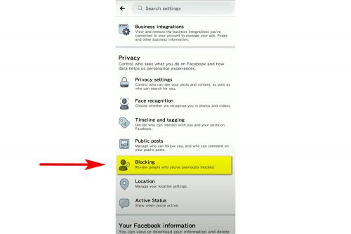 How to unlock a person on Facebook on your phone Step 4