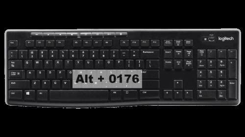 Degree Symbol Keyboard shortcuts