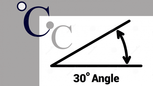 Degree Symbol Sample