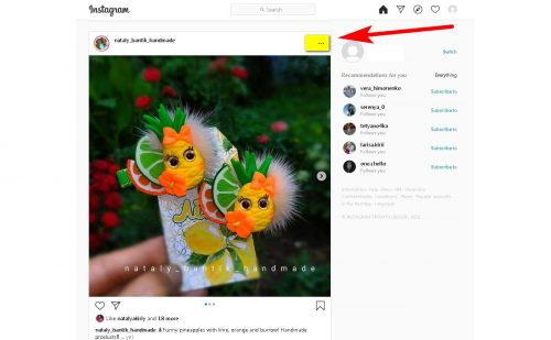 How to download a photo or video from Instagram Saving a photo via a link in Telegram Step 1