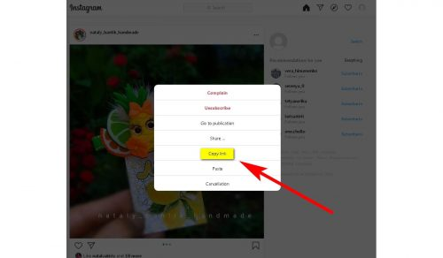 How to download a photo or video from Instagram Saving a photo via a link in Telegram Step 2