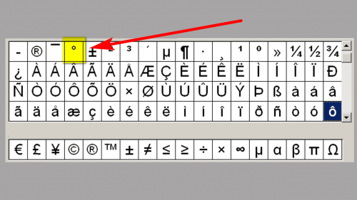 Typing a Degree ° Symbol