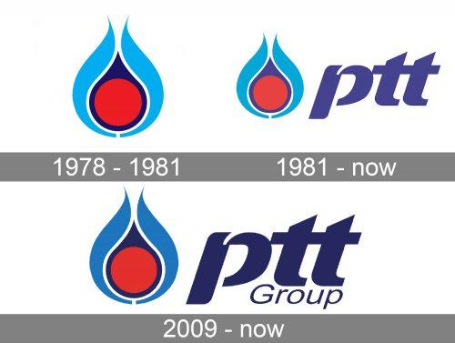PTT Logo history